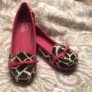 Shoes - Animal print/pink flats